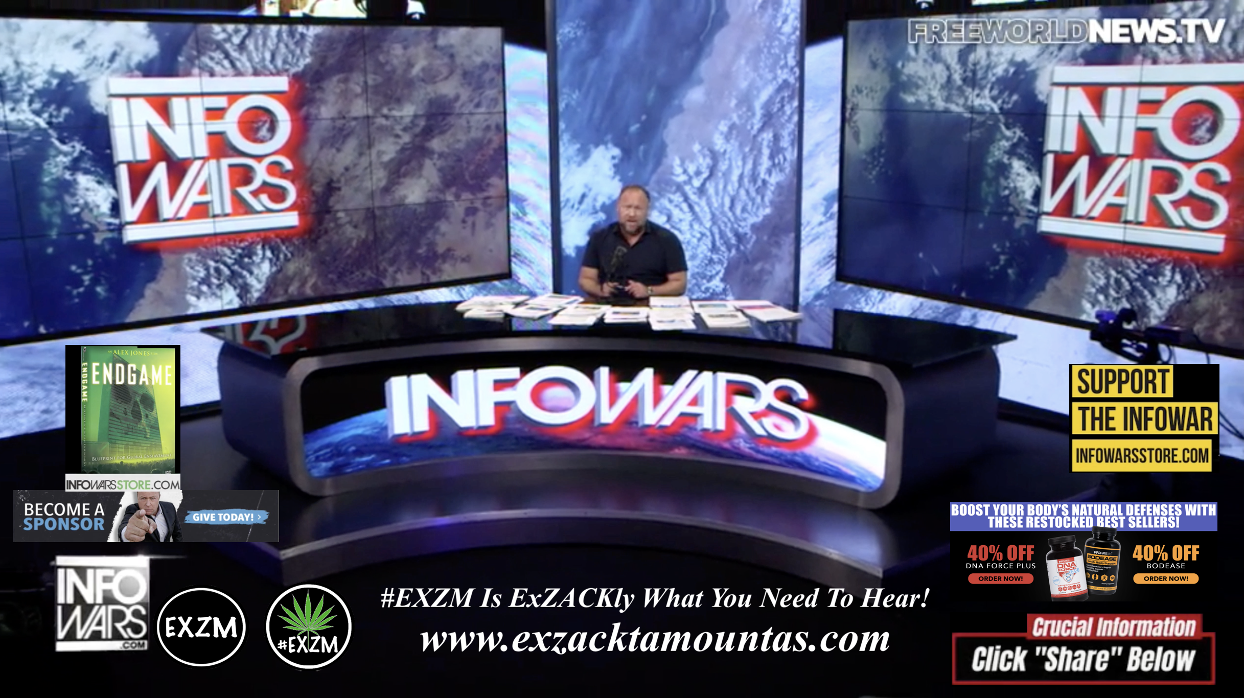 Alex Jones Live In Infowars Studio Free World News TV EXZM Zack Mount October 26th 2021 copy