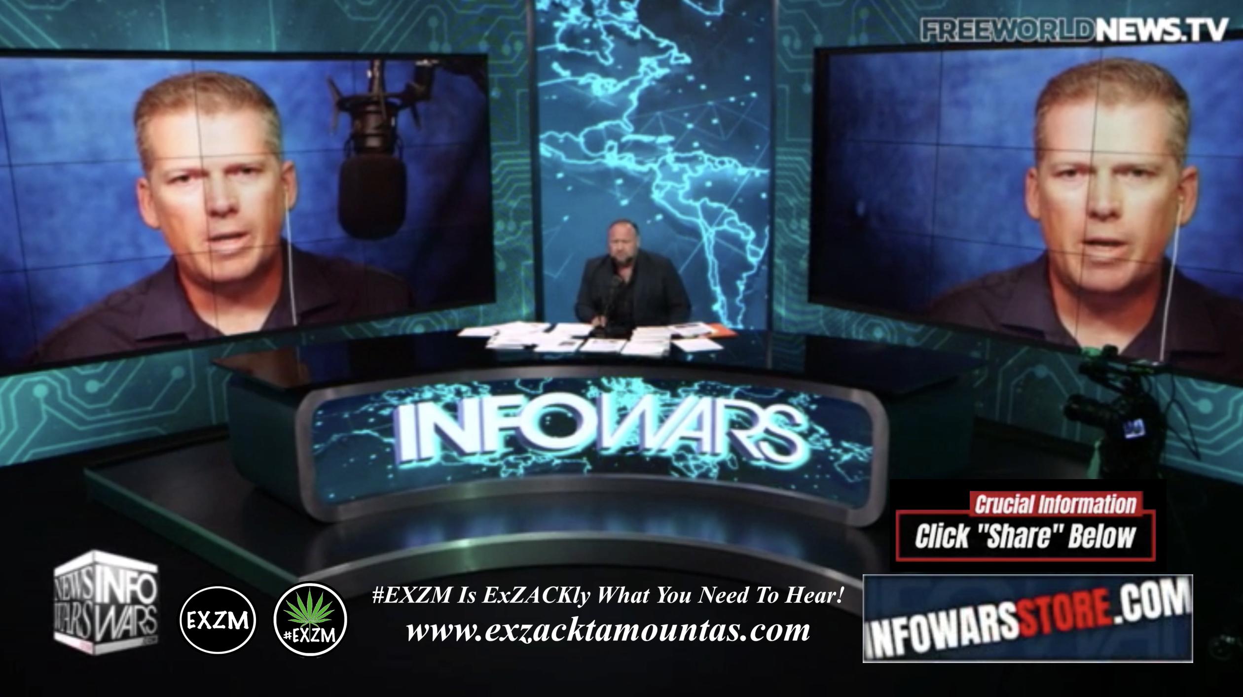Alex Jones Mike Adams Live In Infowars Studio Free World News TV EXZM Zack Mount October 3rd 2021 copy