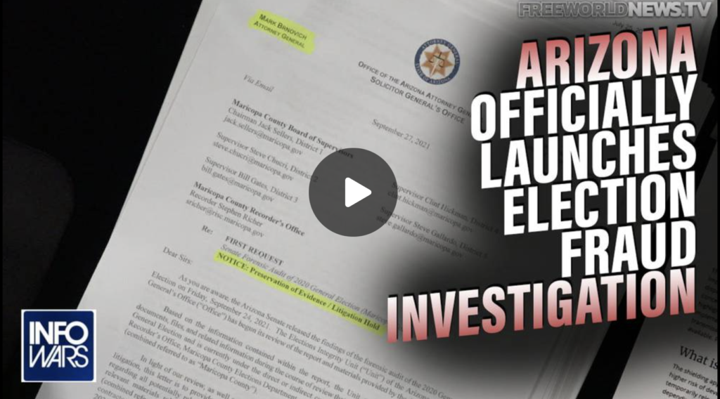 Arizona AG Launches Official Election Fraud Investigation EXZM Zack Mount September 29th 2021