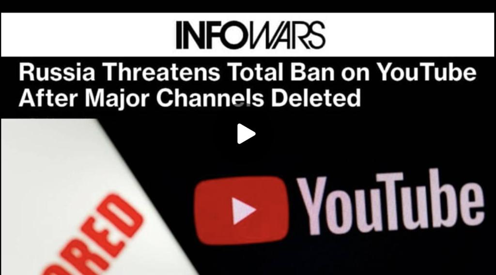 Russian Govt Threatens to Ban YouTube in Retaliation for Censorship EXZM Zack Mount September 29th 2021