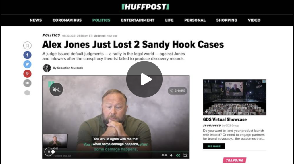 Texas Judge Crucifies First Amendment In Alex Jones Sandy Hook Case EXZM Zack Mount September 30th 2021