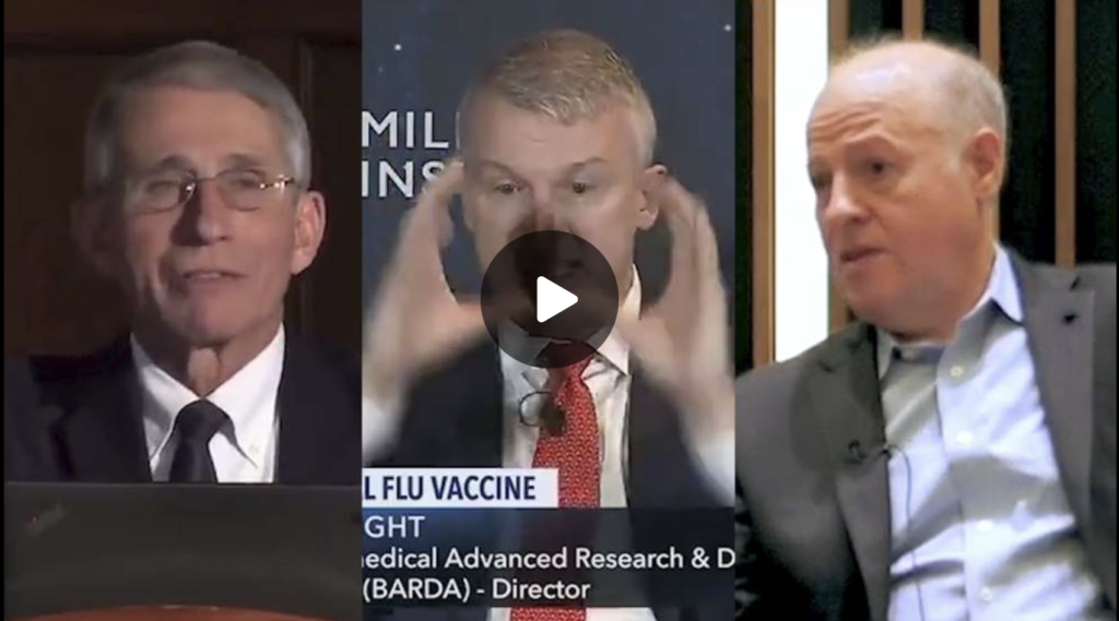 VIDEO Fauci Bright and Dazek Caught Wargaming COVID Virus and mRNA Vaccine Rollout EXZM Zack Mount October 5th 2021